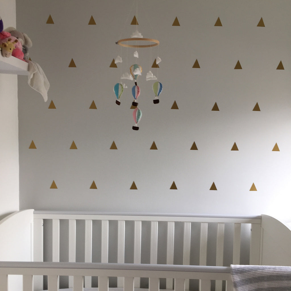 Golden triangle pattern decals
