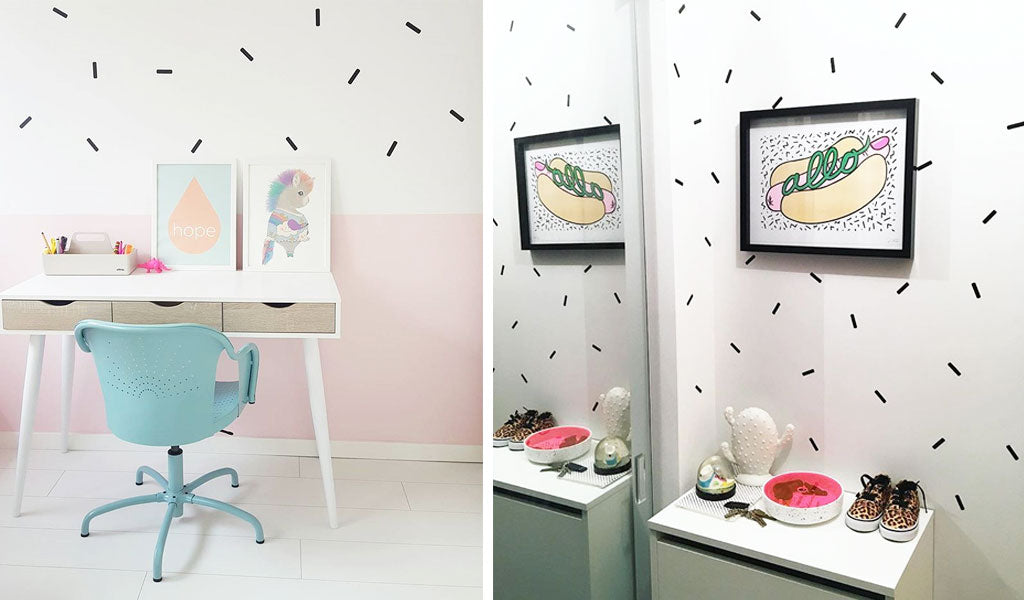 Decorate with wall decal sprinkles