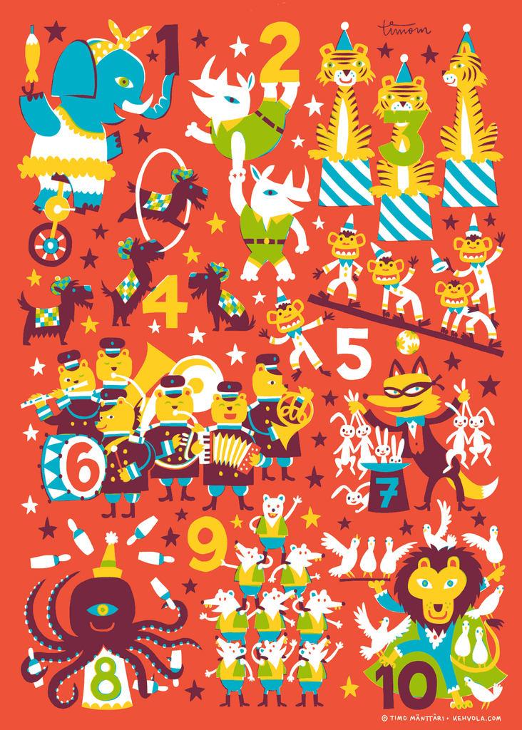 123 Poster, 50 x 70 cm, Posters & Prints - Made of Sundays