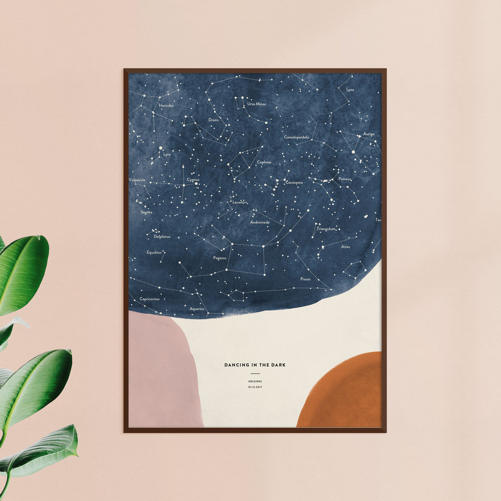 Night Sky Star Map, Shapes, wall decals by Made of Sundays