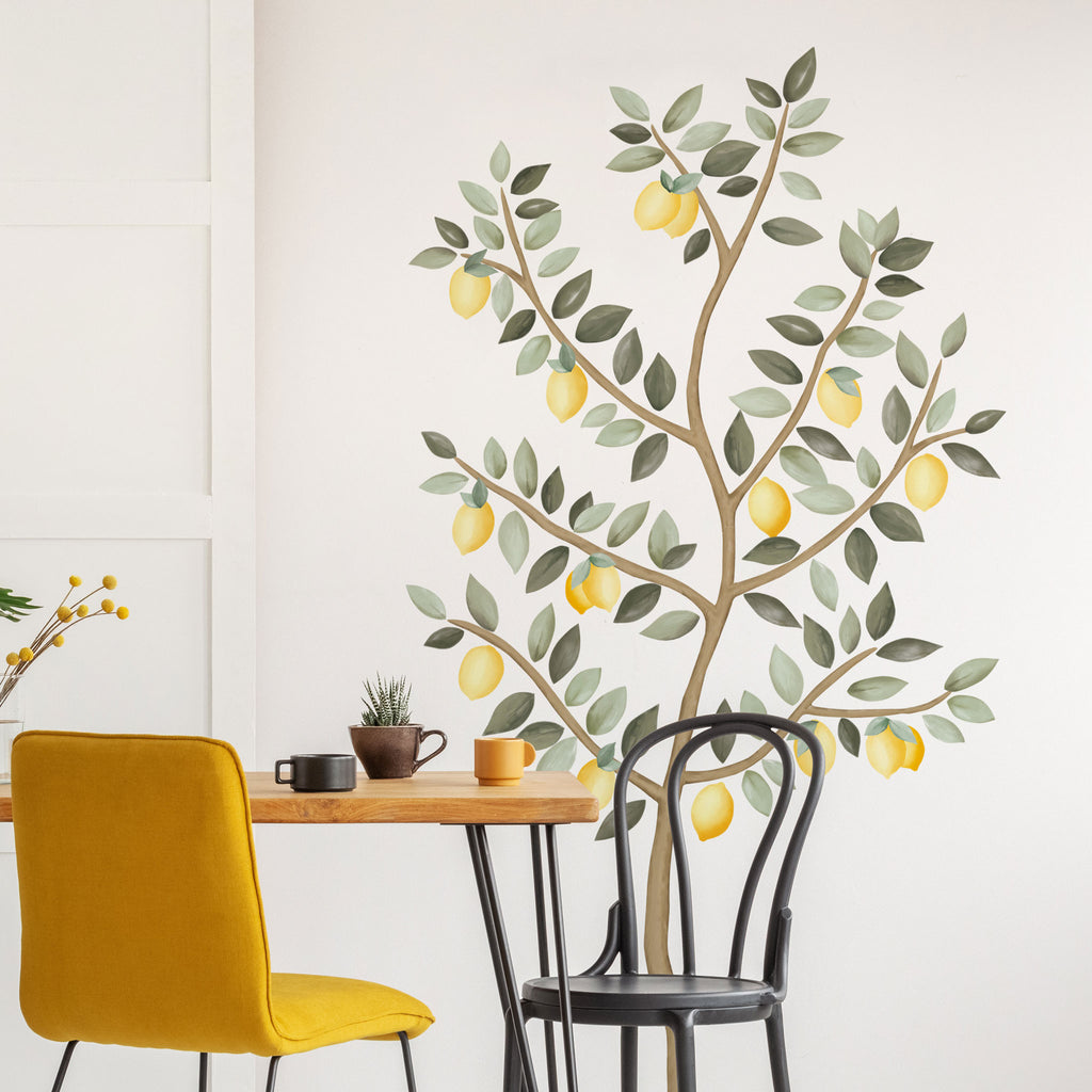 Big Lemon Tree Wall Stickers