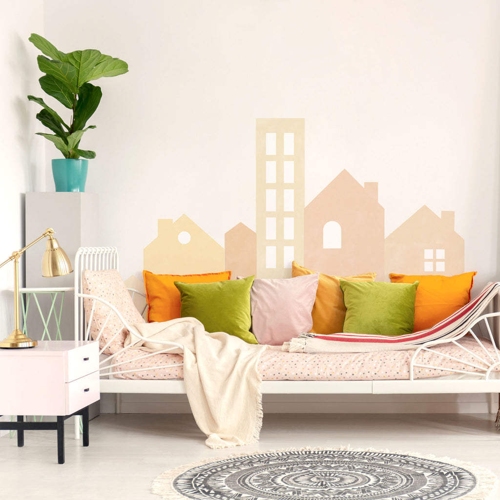 Big City Mural Wall Stickers, Boho, wall decals by Made of Sundays