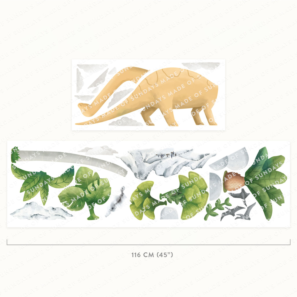 Brontosaurus Dinosaur Wall Sticker, wall decals by Made of Sundays