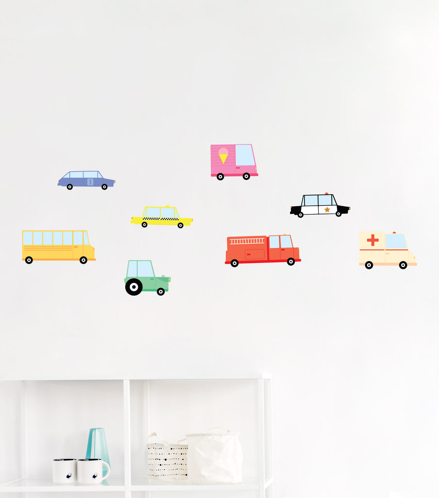 City Cars Wall Stickers, wall decals by Made of Sundays