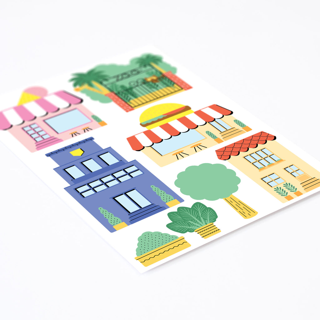 City Theme Pack, wall decals by Made of Sundays