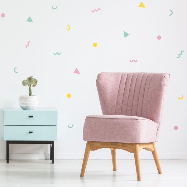 80's party wall pattern, wall decals by Made of Sundays