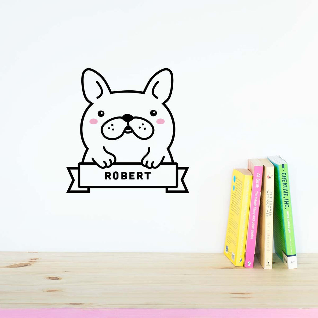 Name Sticker, Bulldog, wall decals by Made of Sundays