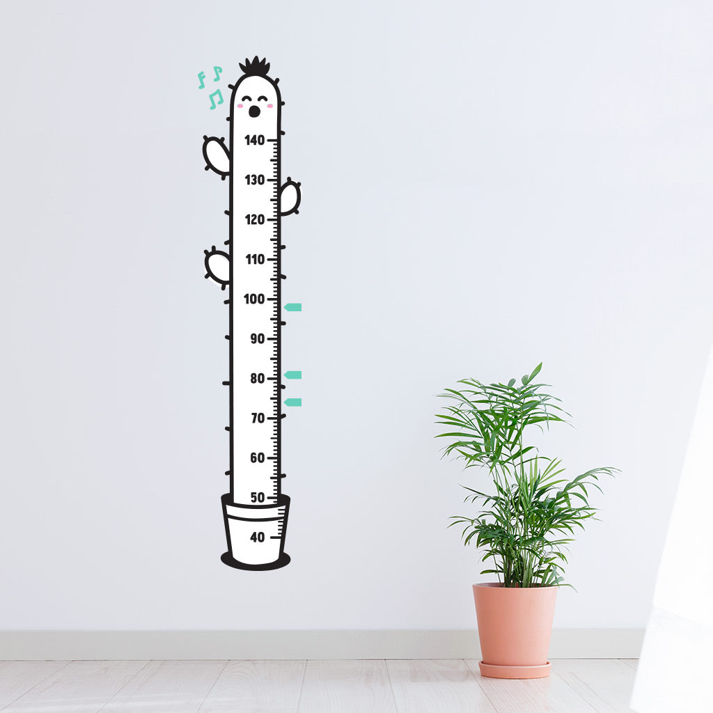 Height Chart, Singing Cactus, wall decals by Made of Sundays