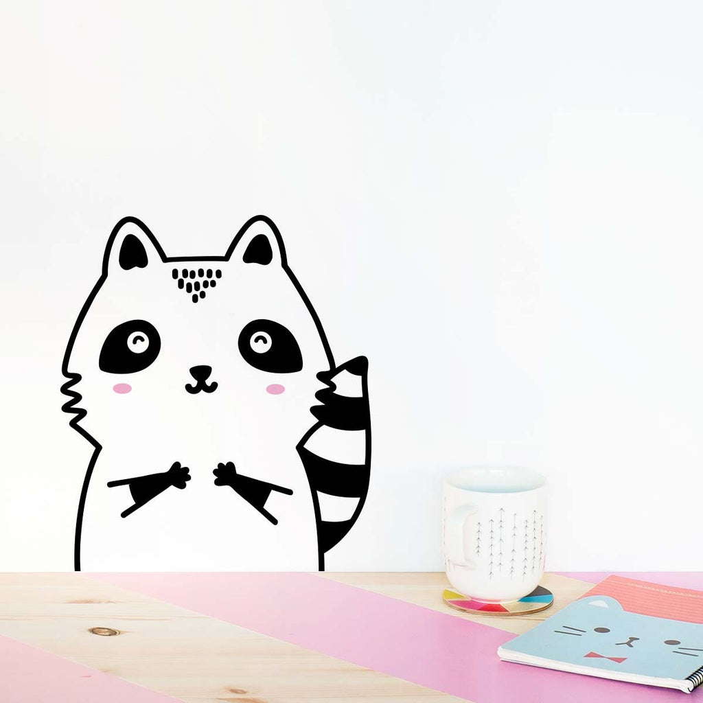 Robert the Raccoon, Small, Wallpaper Sticker - Made of Sundays