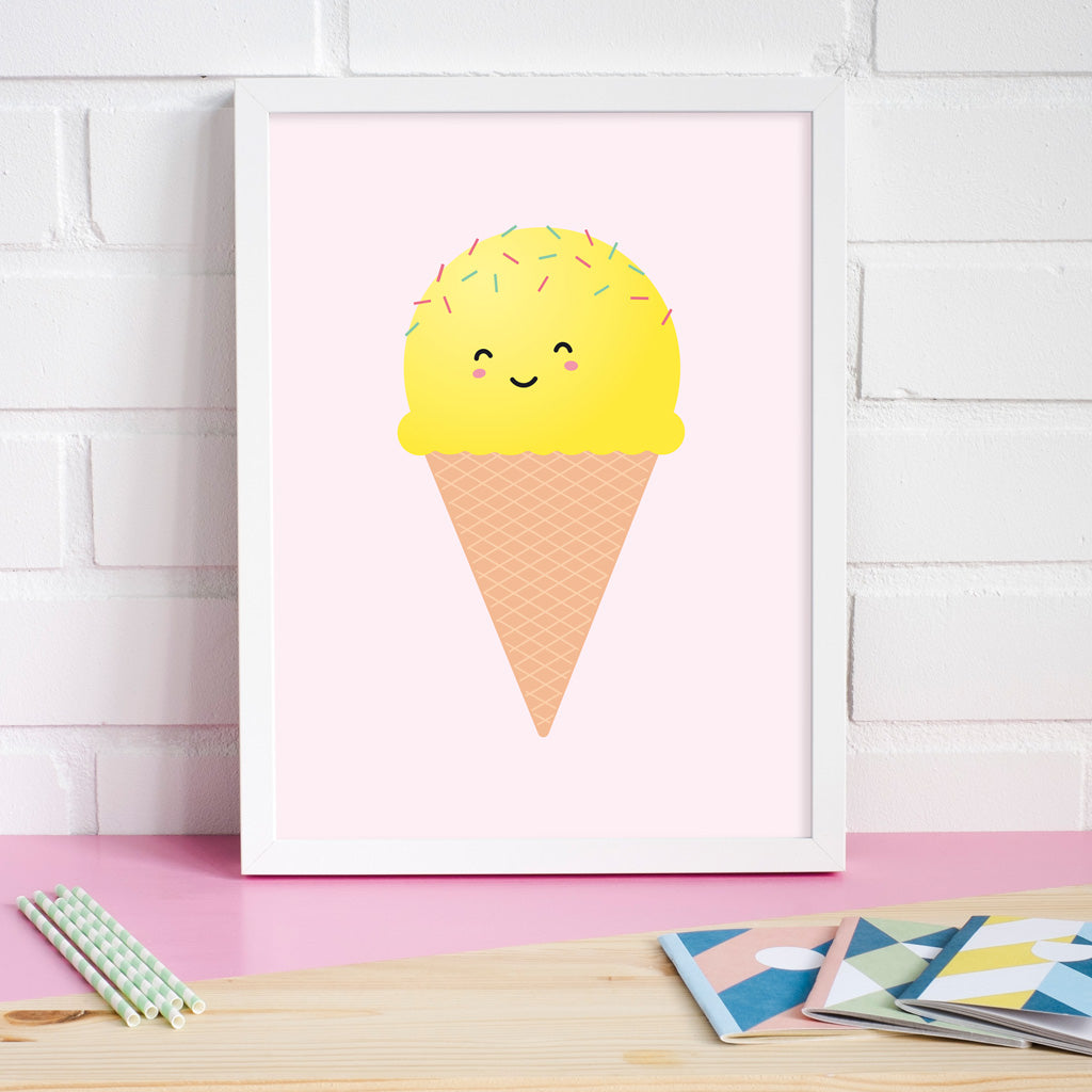 Ice Cream Poster, Posters & Prints - Made of Sundays