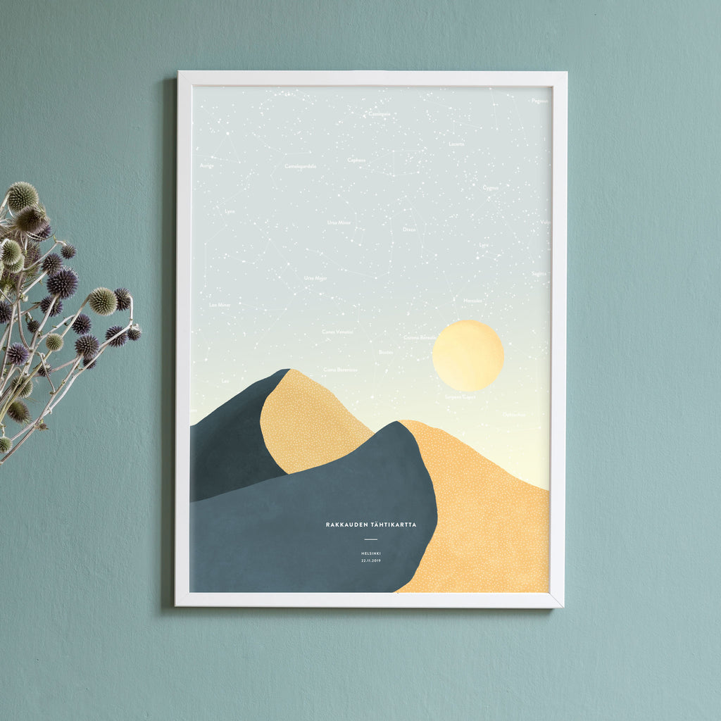 Night Sky Star Map, Petrol Desert, wall decals by Made of Sundays