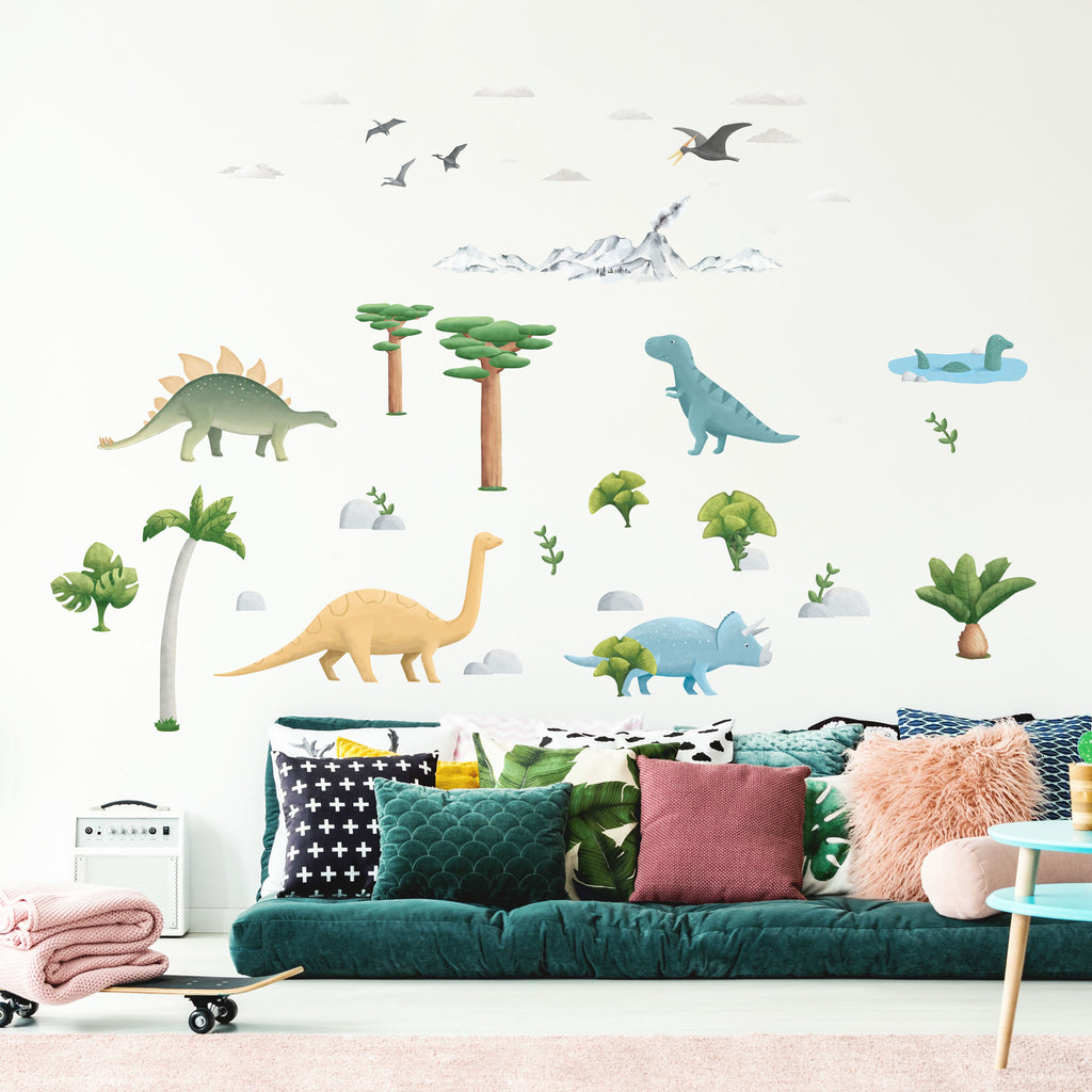 Dinosaur World Theme Pack, wall decals by Made of Sundays