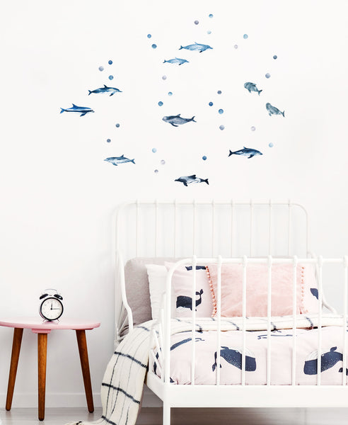 Dolphin Decals, wall decals by Made of Sundays