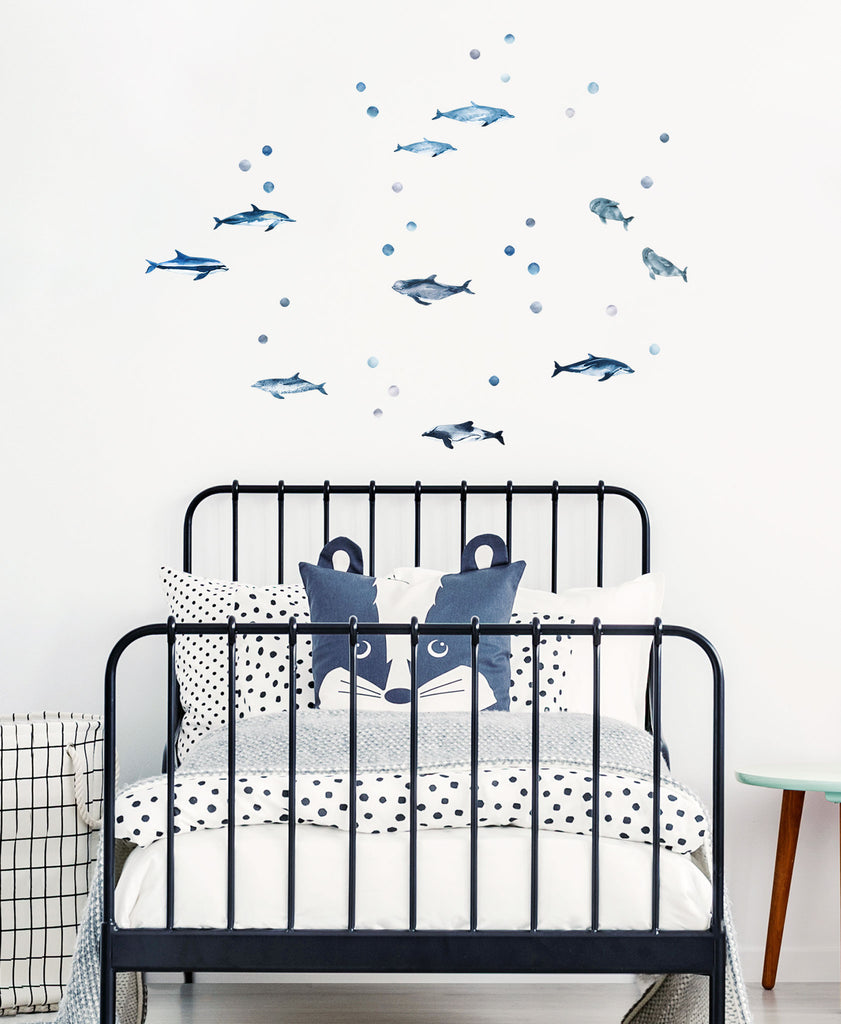 Dolphin Wall Stickers, wall decals by Made of Sundays