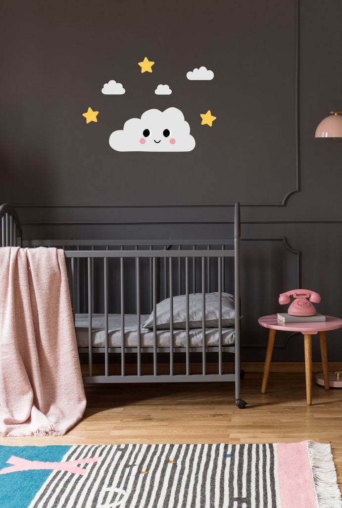 Dreamers Happy Cloud Wall Stickers, wall decals by Made of Sundays