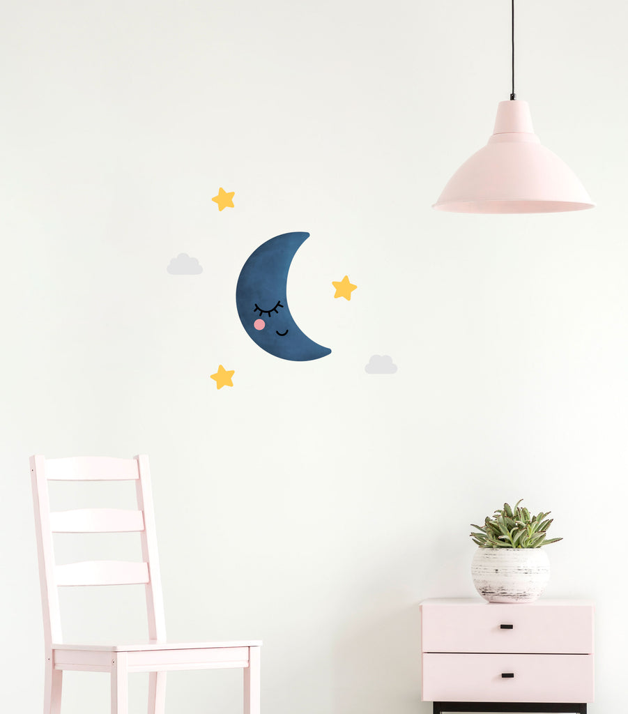Dreamers Sleepy Half Moon, wall decals by Made of Sundays