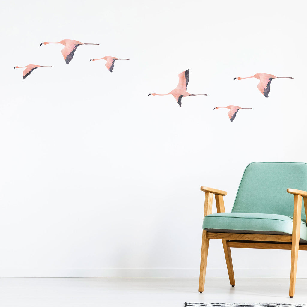 Flamingo Jungle Wall Stickers, wall decals by Made of Sundays