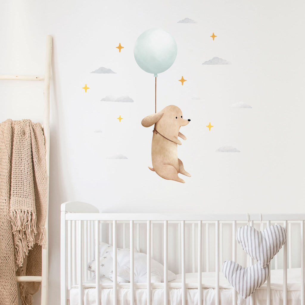 Floating Dog Wall Sticker