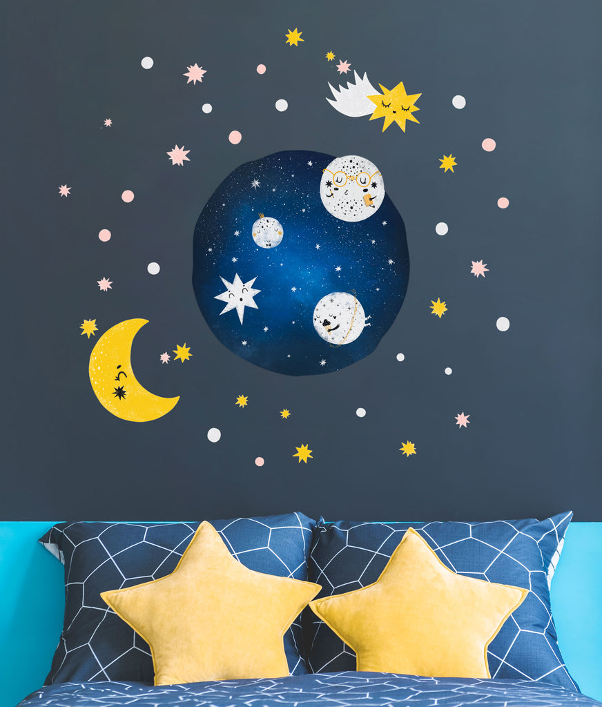Galaxy Wall Stickers Theme Pack, wall decals by Made of Sundays