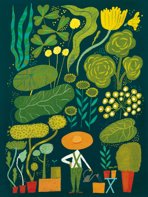 Garden Poster, A3, wall decals by Made of Sundays