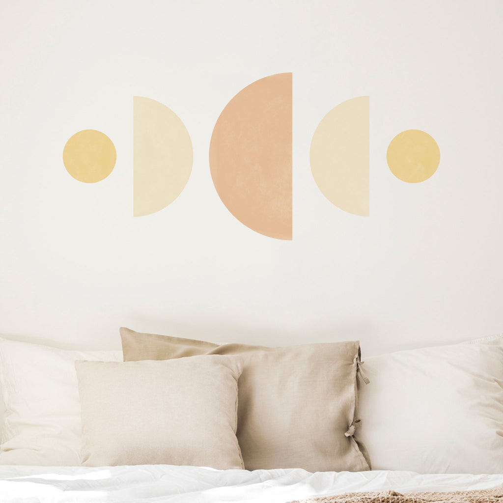 Moon Phases Abstract Wall Stickers, wall decals by Made of Sundays