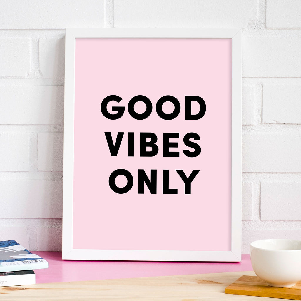 Good Vibes Only Poster, wall decals by Made of Sundays
