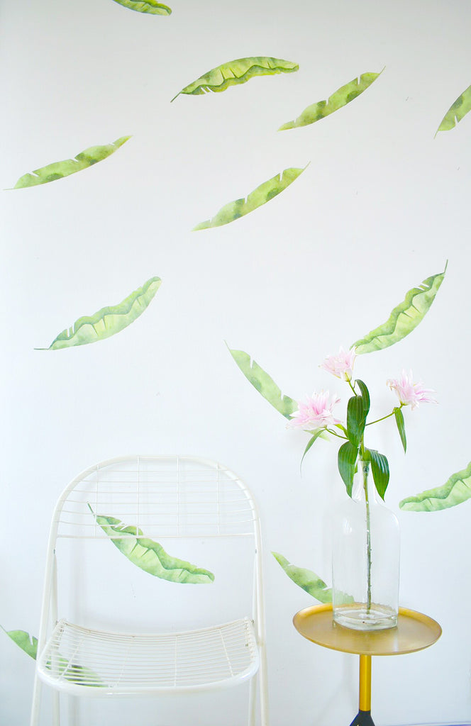 Big Palm Leaves Wall Stickers, wall decals by Made of Sundays