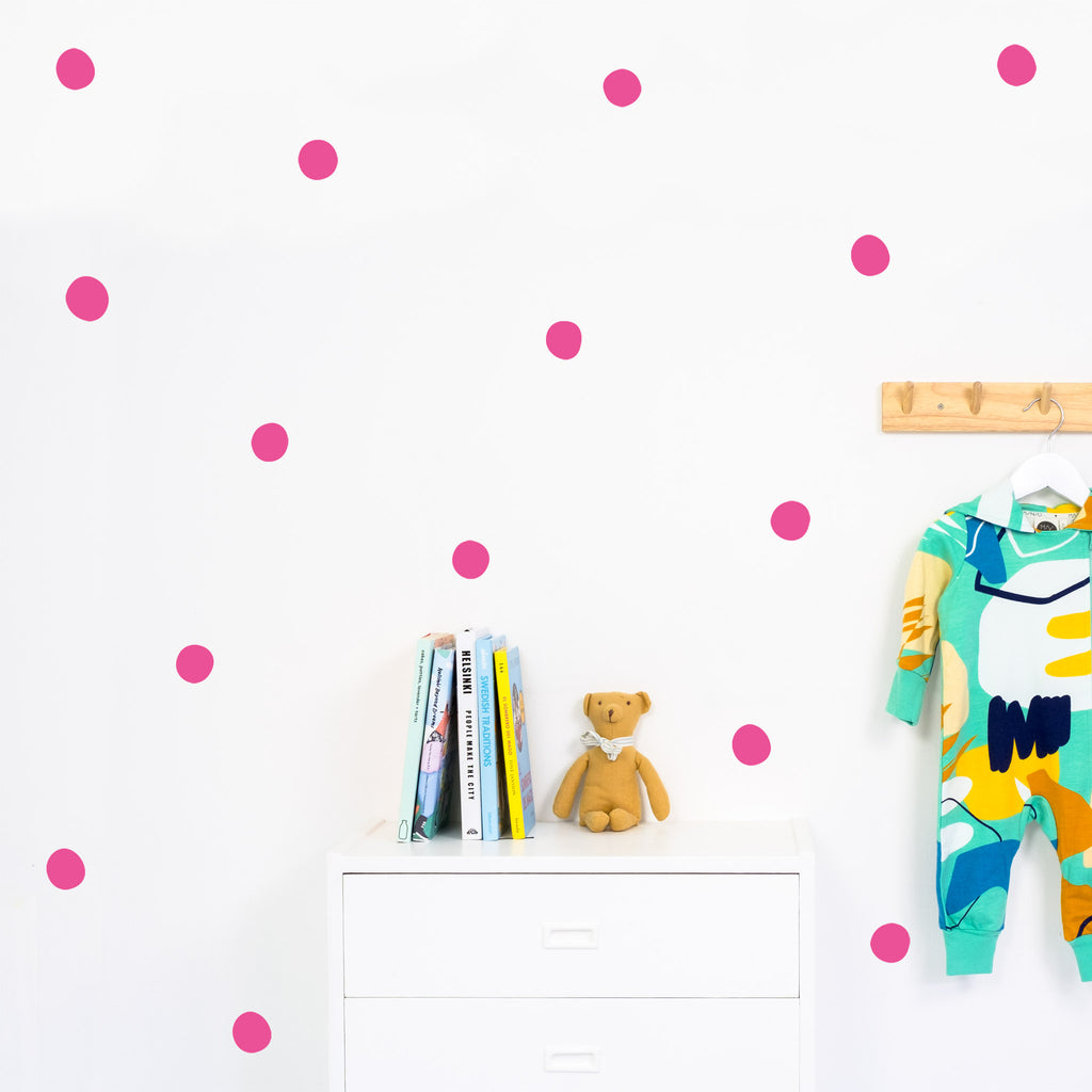 Round irregular Polka Dot Wall Stickers, 4-6 cm, wall decals by Made of Sundays