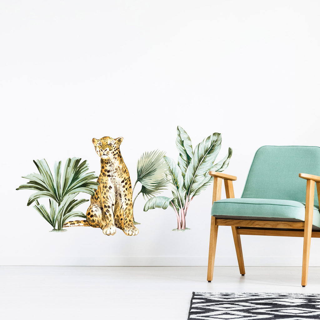 Jungle Leopard & Plants Wall Stickers, wall decals by Made of Sundays