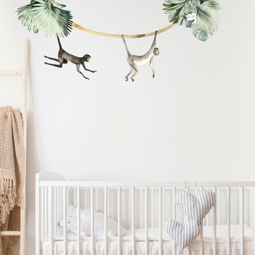 Jungle Monkey Wall Stickers, wall decals by Made of Sundays