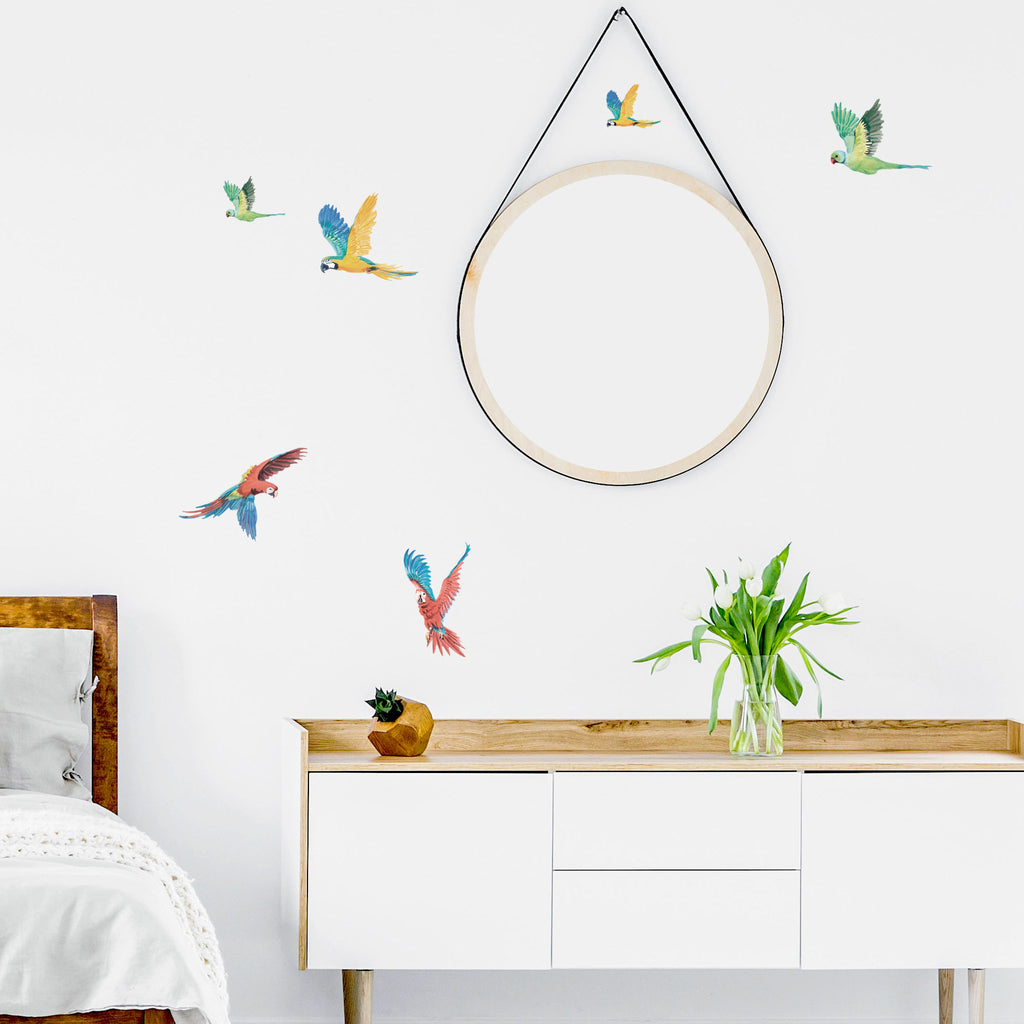 Parrots Jungle Wall Stickers, wall decals by Made of Sundays