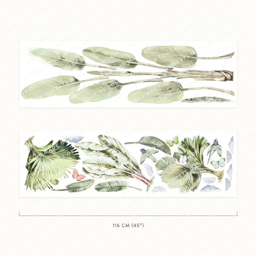Jungle Plants Wall Stickers, wall decals by Made of Sundays