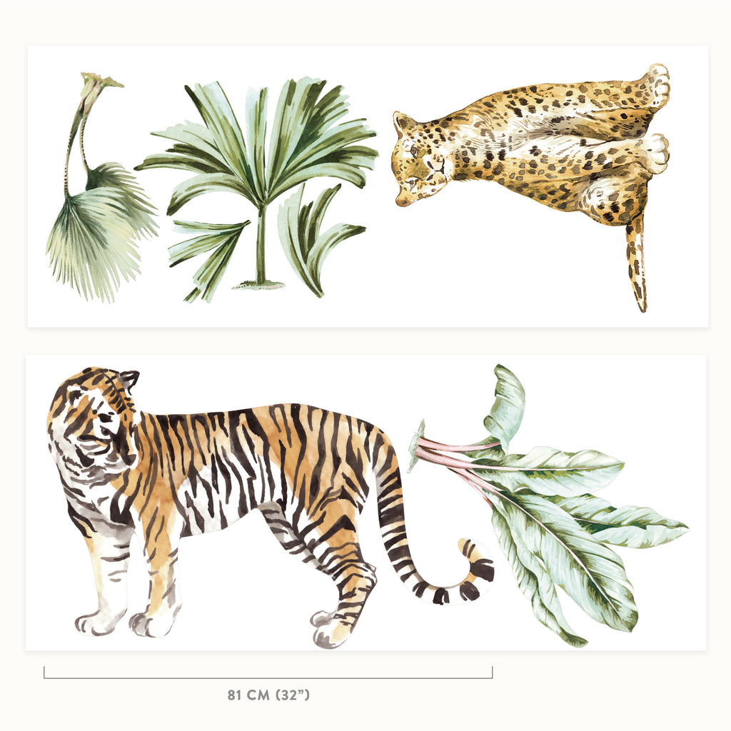 Jungle Wall Stickers Theme Pack, wall decals by Made of Sundays