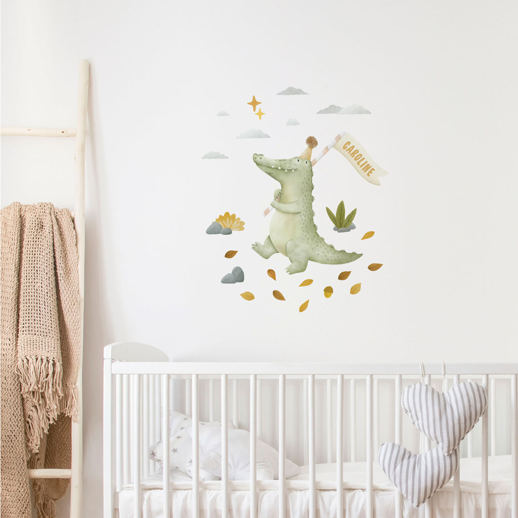 Kallan the Crocodile Personalised Wall Sticker