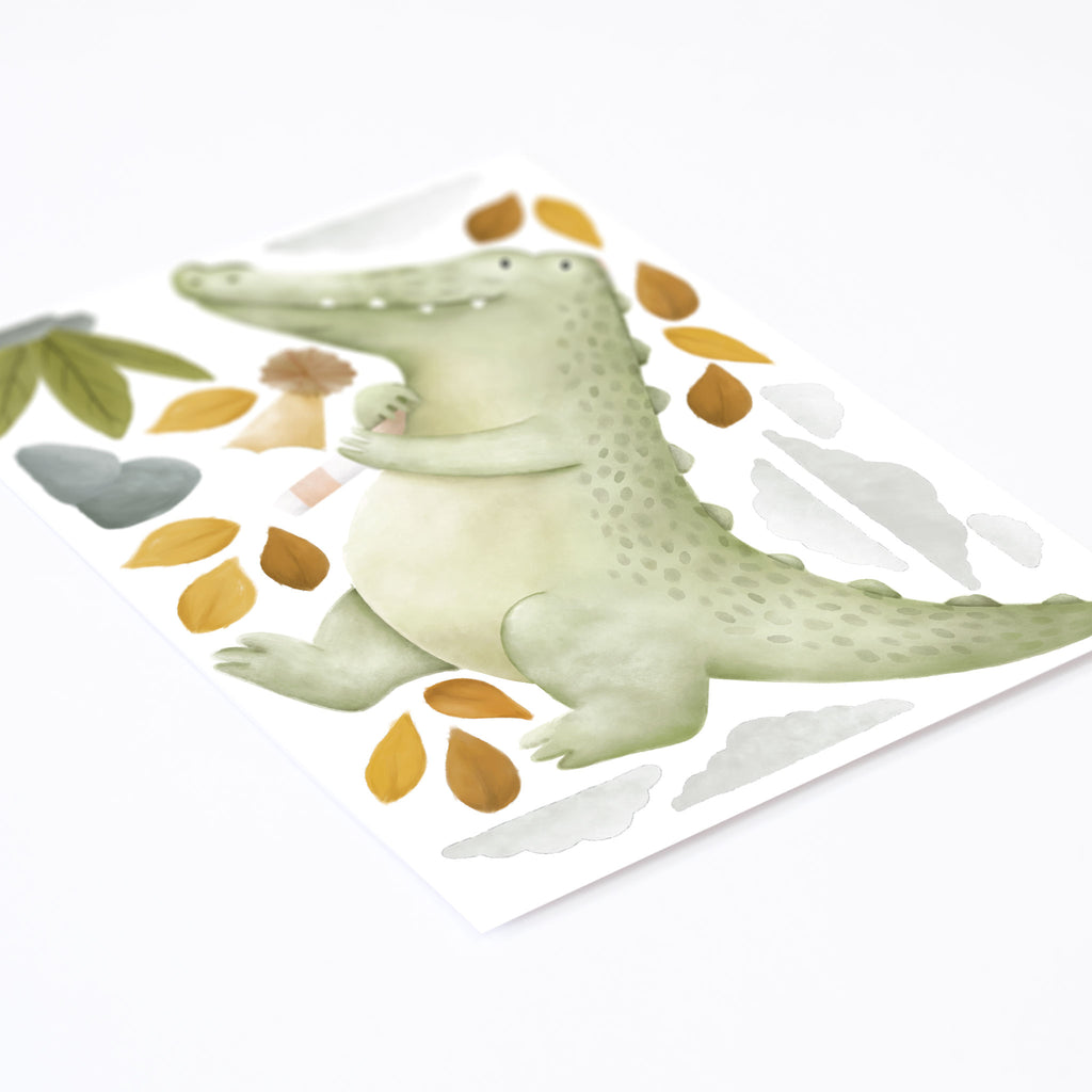 Kallan the Crocodile Wall Sticker