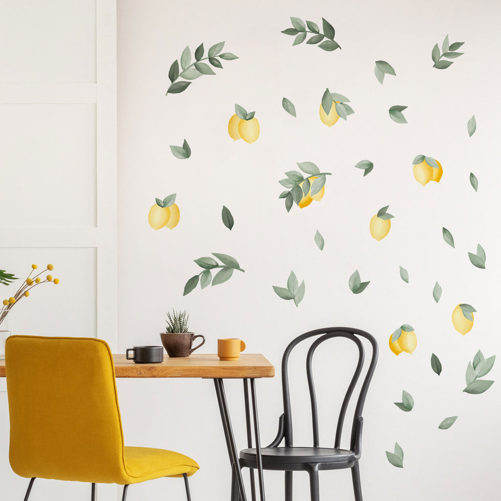 Lemons and leaves Wall Stickers