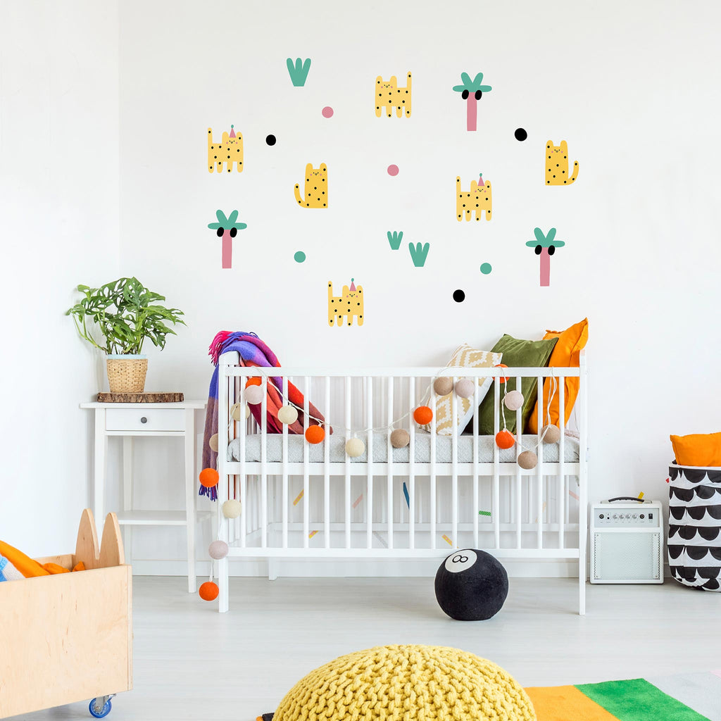 Leoparty Leopards Wall Stickers, wall decals by Made of Sundays
