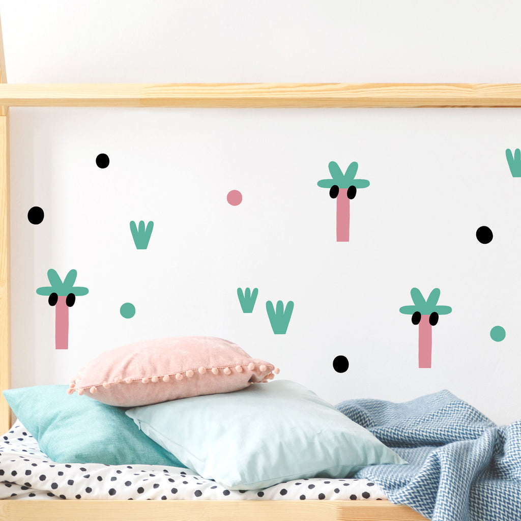 Leoparty Palms, wall decals by Made of Sundays
