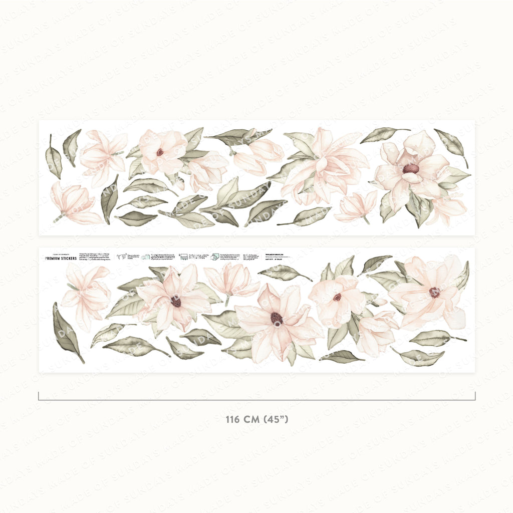 Magnolia Floral Wall Stickers