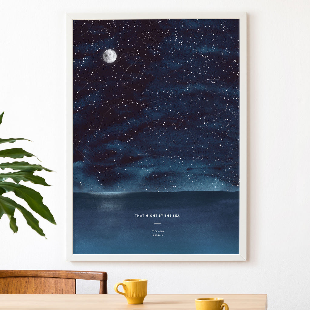 Night Sky Star Map, Sea, wall decals by Made of Sundays