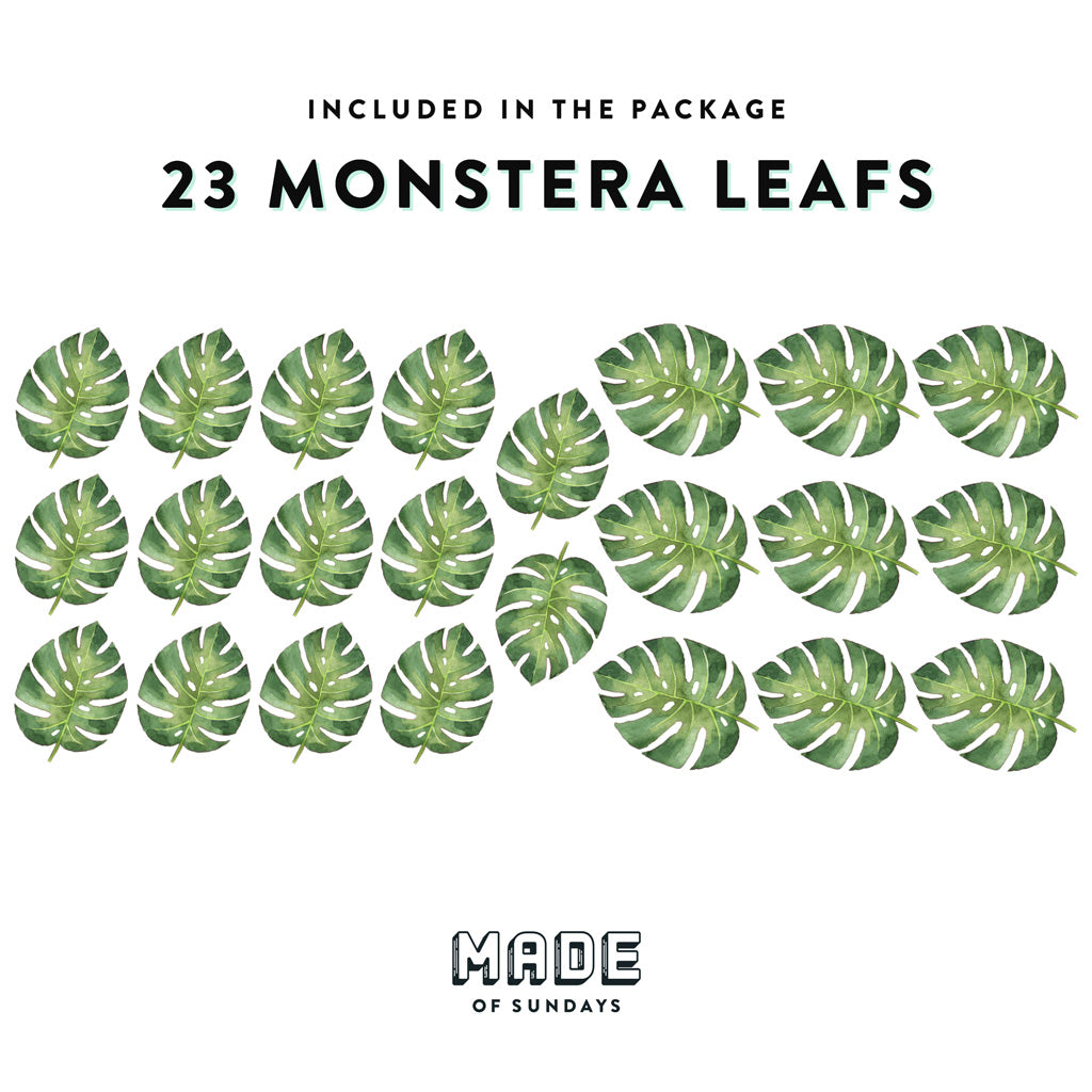 Monstera Leaves, Wallpaper Sticker - Made of Sundays