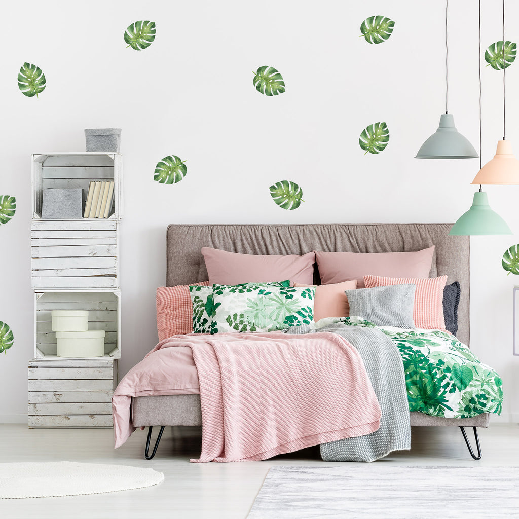 Monstera Leaves Wall Stickers, wall decals by Made of Sundays