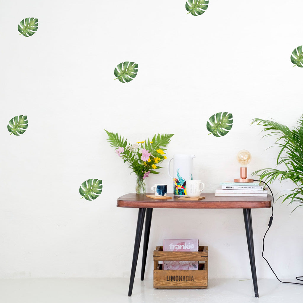 Monstera Leaves, wall decals by Made of Sundays