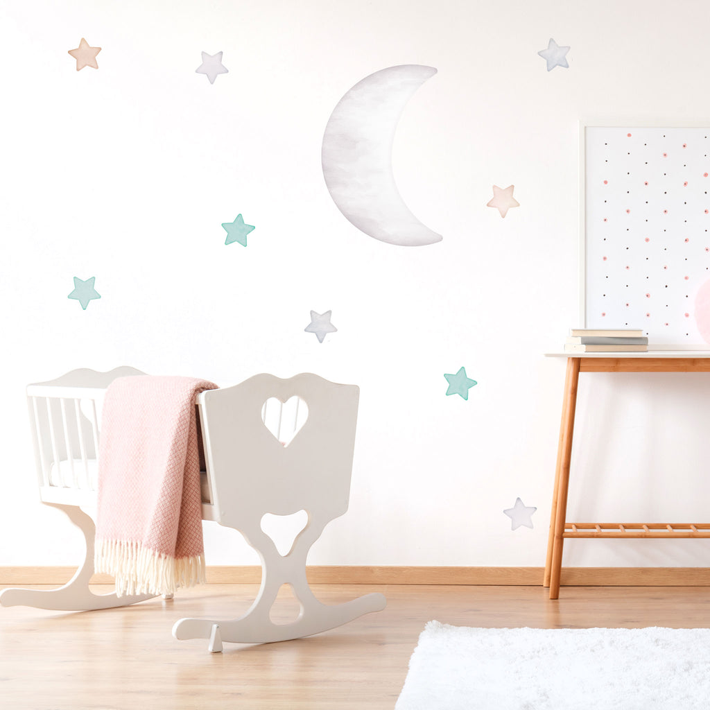 Arctic Big Half Moon, wall decals by Made of Sundays