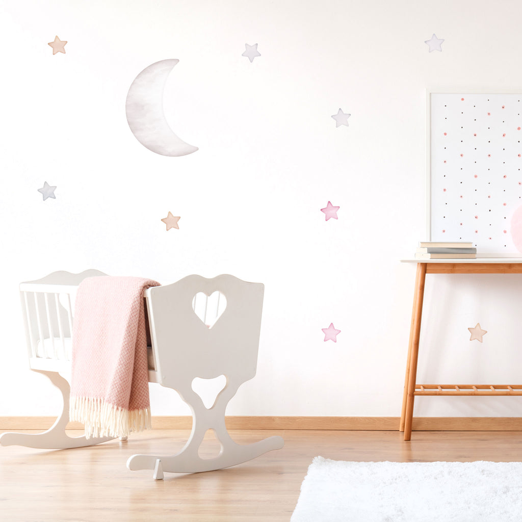 Arctic Small Half Moon Wall Sticker, wall decals by Made of Sundays