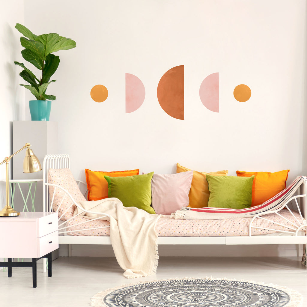 Moon Phases - Strong, Abstract Wall Stickers