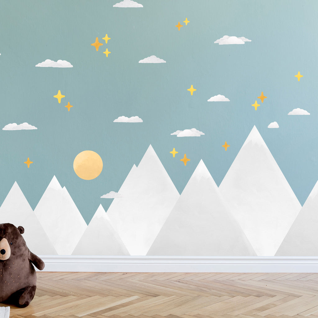 Grey Mountain Wall Stickers