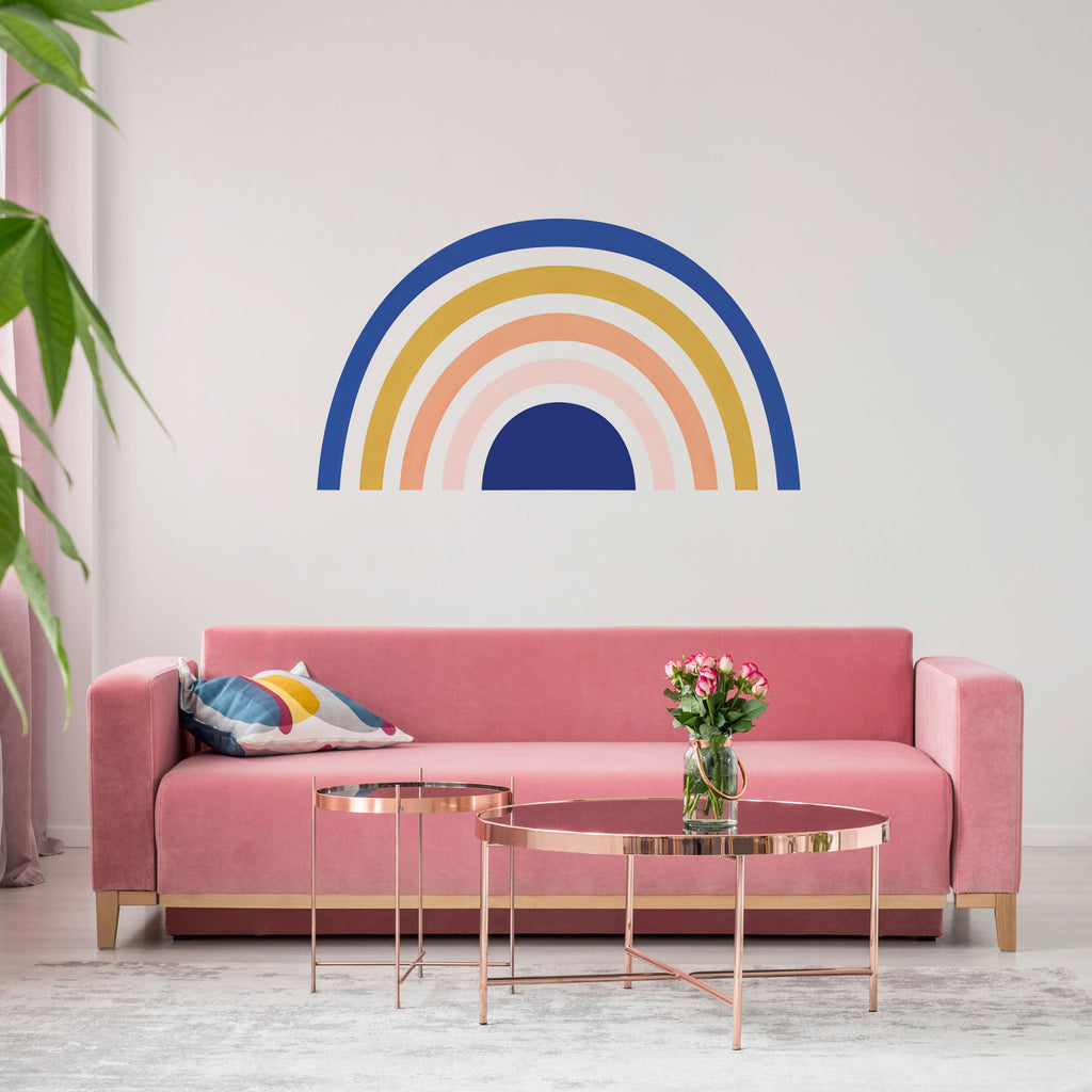 Rainbow Mural wall sticker, Art Deco, wall decals by Made of Sundays
