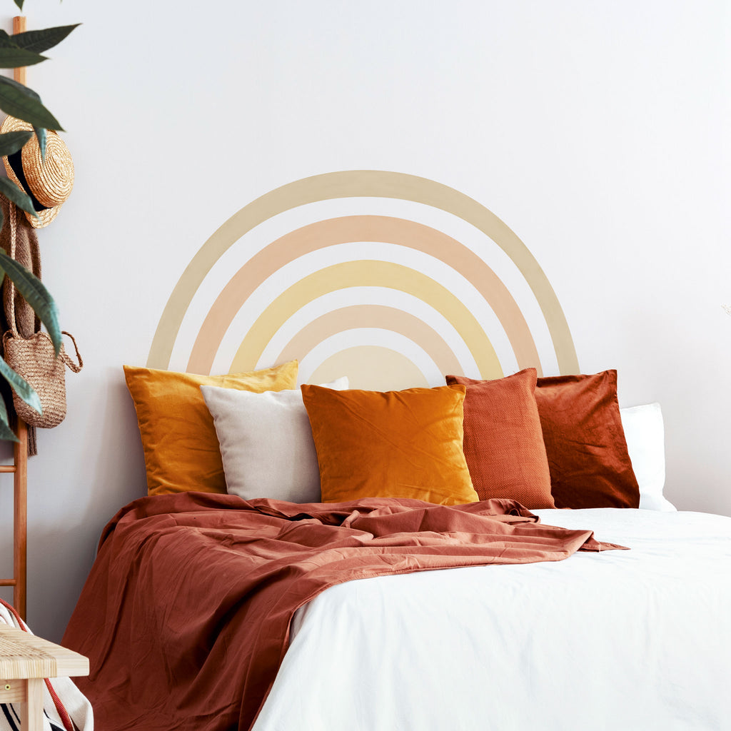 Rainbow Mural wall sticker, Boho, wall decals by Made of Sundays