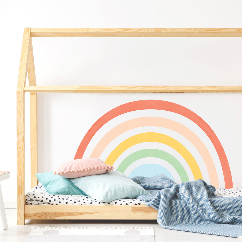 Rainbow Mural wall sticker, Colorful, wall decals by Made of Sundays